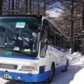 例年2月には、雪上で坂道発進などを訓練している
