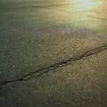 被災地 地震 地割れ 復興