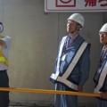 岡崎労基局長はフォークリフトの安全対策を確認した