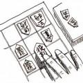 最後の一手は……。 イラスト 吉川 泰生