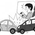 営業車を運転中に追突事故