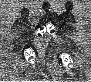 暗闇はお戒壇巡りだけで勘弁 イラスト 吉川 泰生