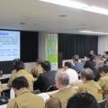 写真① 支店会議での安全キャラバン報告