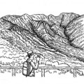 凹地に山が2つ分 イラスト 吉川 泰生