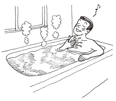 お風呂にゆっくりつかり自分を緩める