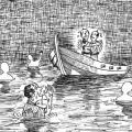 助け求める声を船幽霊と勘違い イラスト 吉川 泰生